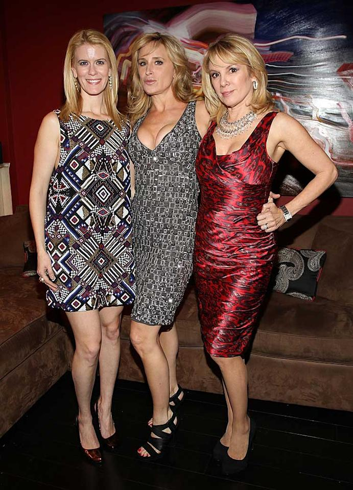 "Dizzying dresses courtesy of ""Real Housewives of New York City"" stars Alex McCord, Sonja Morgan, and Ramona Singer ... which ladies' look do you find most alarming? Jerritt Clark/<a href=""http://www.wireimage.com"" target=""new"">WireImage.com</a> - January 7, 2011"