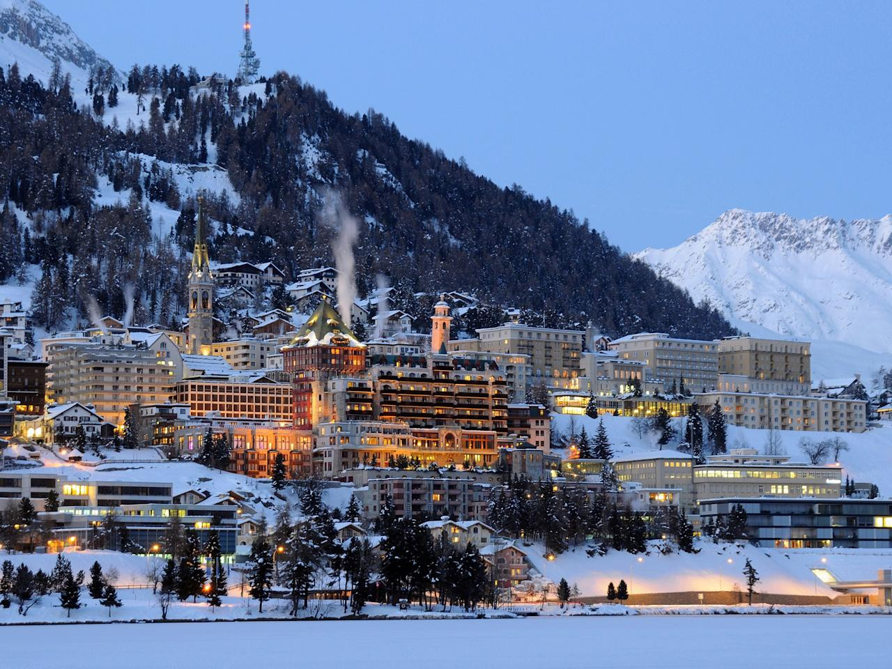 """<p>Welcome to the birthplace of alpine winter tourism. St. Moritz, touted as the ski resort """"on top of the world,"""" has deep roots in skiing. The resort opened in 1864, built one of the first Swiss lifts in 1935, and has hosted the Winter Olympics twice—in 1928 and 1948. Located in upper Engadine, this high-end ski destination begins at an elevation of nearly 6,000 feet and only increases as you reach the tops of its surrounding peaks. Join the hoards of well-heeled Swiss and international jet-setters who visit St. Moritz looking to enjoy the good life.</p> <p><strong>Stats:</strong> With 56 lifts giving you access to <a href=""""https://www.stmoritz.com/en/ski-alpine/"""" target=""""_blank"""">87 runs</a>, you won't get bored easily. Pay between roughly $68 and $84 per <a href=""""https://www.engadin.ch/en/snow-deal-shop/"""" target=""""_blank"""">adult day pass</a> and experience nearly 220 miles of runs.</p> <p><strong>Where to eat and drink nearby:</strong> From Patrizier Stuben Swiss classics at the oldest farmhouse in town to celebrity chef Nobu's Japanese-Peruvian fusion at La Coupole-Matsuhisa, <a href=""""http://www.cntraveler.com/hotels/switzerland/sankt-moritz-dorf/badrutt-s-palace-hotel--st--moritz?mbid=synd_yahoo_rss"""" target=""""_blank"""">Badrutt's Palace</a> hosts the area's best places to eat and drink—and the modern-day jet-setters who come to try them out. Set in a 17th-century farmhouse, <a href=""""https://www.talvo.ch/en/"""" target=""""_blank"""">Talvo by Dalsass</a> serves nature-inspired dishes with a Mediterranean twist.</p> <p><strong>Where to stay:</strong> Treat yourself to the extravagance of Badrutt's Palace, the place where your sheets are warmed with hot water bottles each night—and where <a href=""""https://www.cntraveler.com/galleries/2015-01-07/50-best-travel-films-of-the-past-50-years?mbid=synd_yahoo_rss"""" target=""""_blank"""">Alfred Hitchcock</a> once spent his honeymoon. (It also has one of <a href=""""https://www.cntraveler.com/galleries/2016-01-08/gold-list-2016-the-most-tranquil-spa"""