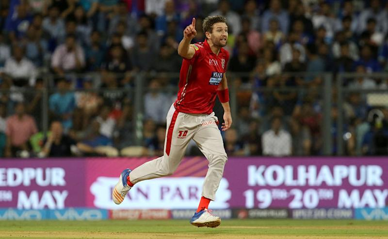 Andrew Tye was once again at the top of his game as he ended with the figures of 4 for 16. He took back to back wickets of Ishan Kishan and Suryakumar Yadav to pull things back for Kings XI Punjab in the first innings after Mumbai Indians got off to a flier. Sportzpics