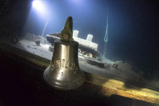 <p>The ship looks almost exactly the same as it did the day it sunk beneath the waves in 1911. (Photo: Becky Kagan Schott/Caters News) </p>