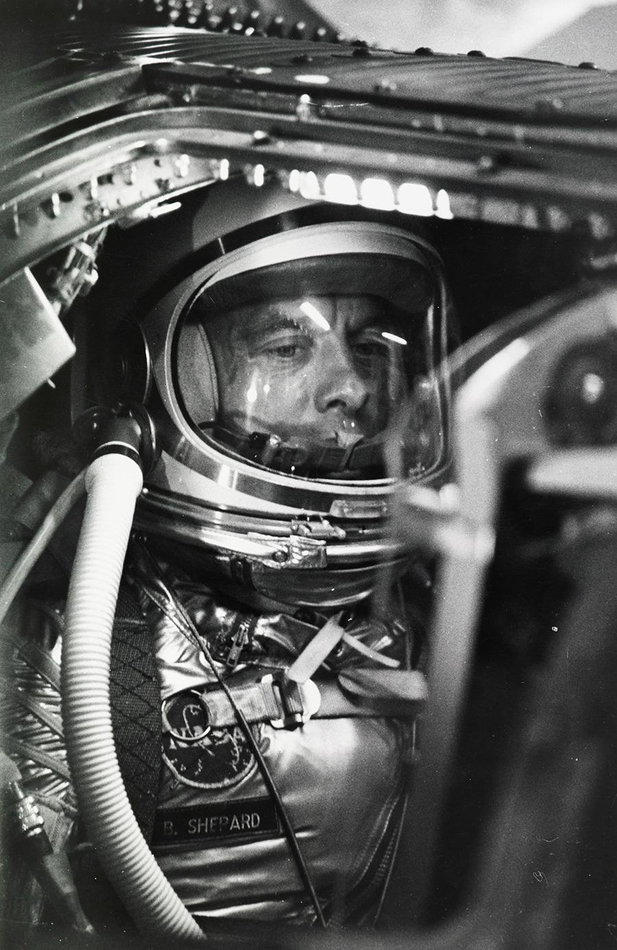 Alan Shepard waits to become the first American in space, Cape Canaveral, 1961.