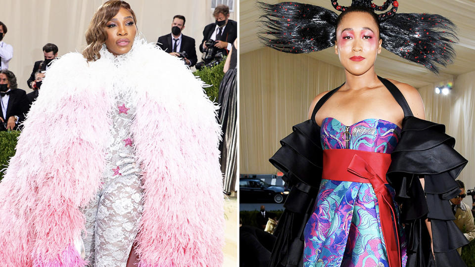 Serena Williams and Naomi Osaka, pictured here at the Met Gala.