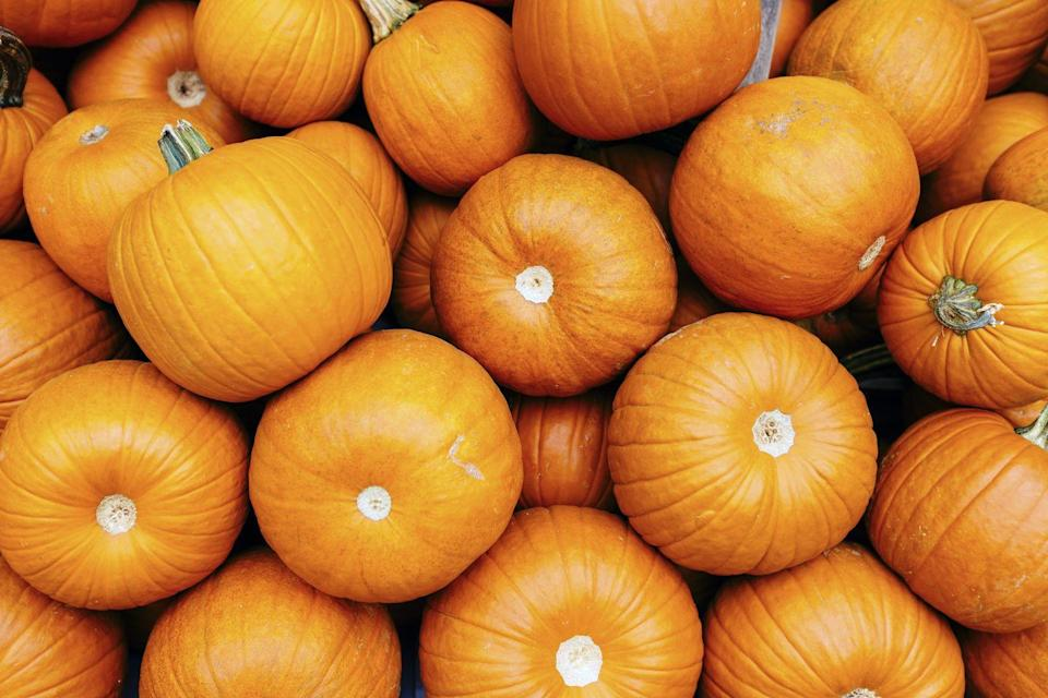 """<p>Pumpkin is filled with the natural cancer fighters alpha- and <a href=""""https://www.medicalnewstoday.com/articles/252758.php"""" rel=""""nofollow noopener"""" target=""""_blank"""" data-ylk=""""slk:beta-carotene"""" class=""""link rapid-noclick-resp"""">beta-carotene</a>.</p><p><strong>Recipe to try:</strong> <a href=""""https://www.womansday.com/food-recipes/food-drinks/a25782889/pumpkin-carrot-soup-recipe/"""" rel=""""nofollow noopener"""" target=""""_blank"""" data-ylk=""""slk:Pumpkin-Carrot Soup"""" class=""""link rapid-noclick-resp"""">Pumpkin-Carrot Soup</a></p>"""