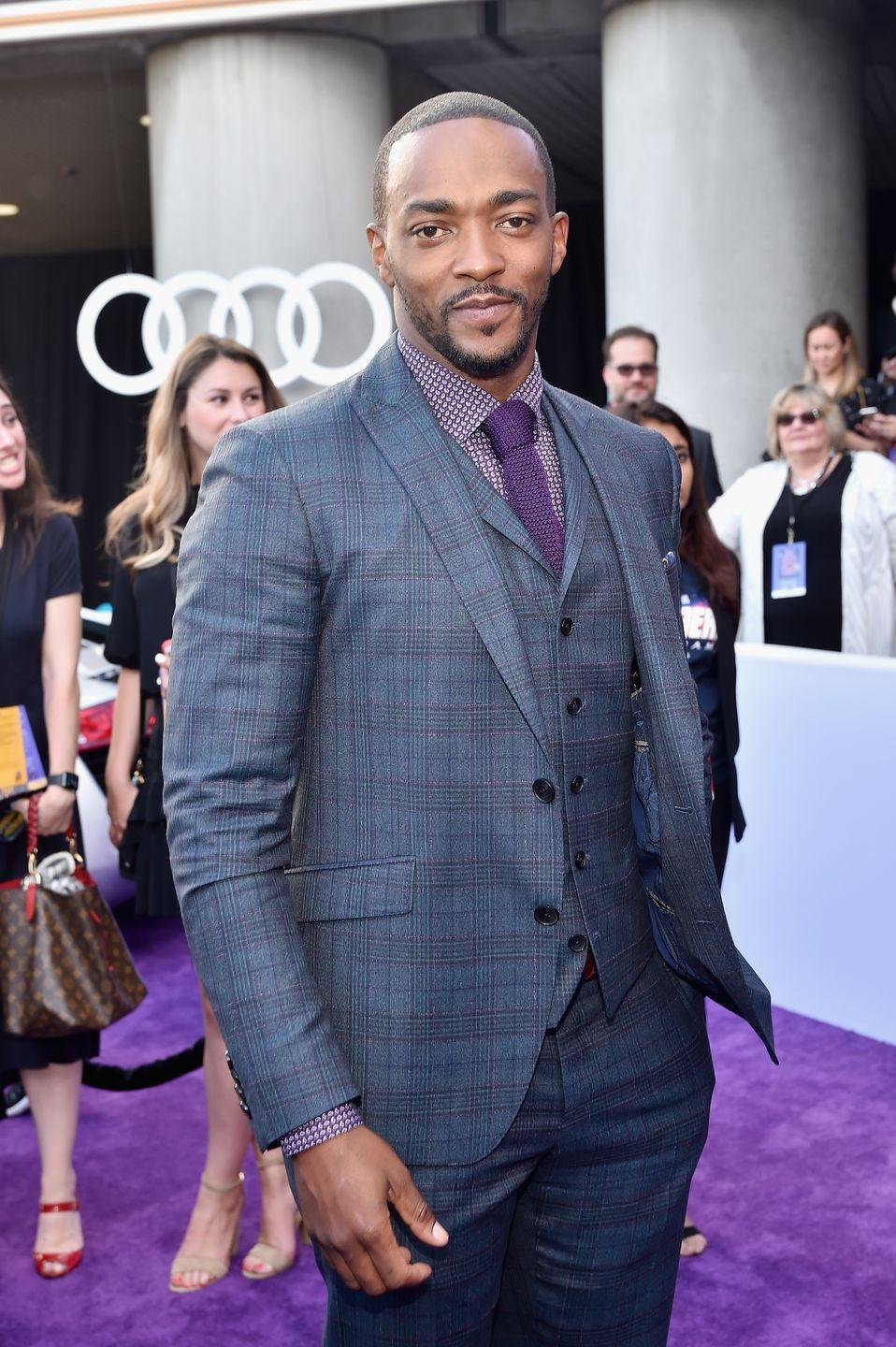 <p>It was announced in 2020 that Anthony Mackie would take over Marvel's <em>Captain America</em> franchise, making him the first Black Captain America. In addition to the Avengers franchise, Mackie has starred in dramas like <em>The Hurt Locker</em> and <em>Million Dollar Baby</em>.</p>