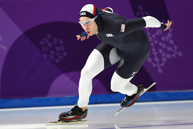<p>Jonathan Garcia of the United States competes during the Men's 500m Speed Skating on day 10 of the PyeongChang 2018 Winter Olympic Games at Gangneung Oval on February 19, 2018 in Gangneung, South Korea. (Photo by Dean Mouhtaropoulos/Getty Images) </p>