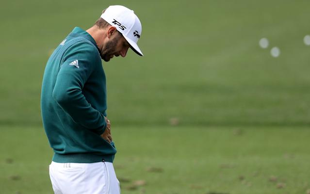 <span>Johnson was forced to withdraw from theMasters last month through injury</span> <span>Credit: Getty Images </span>