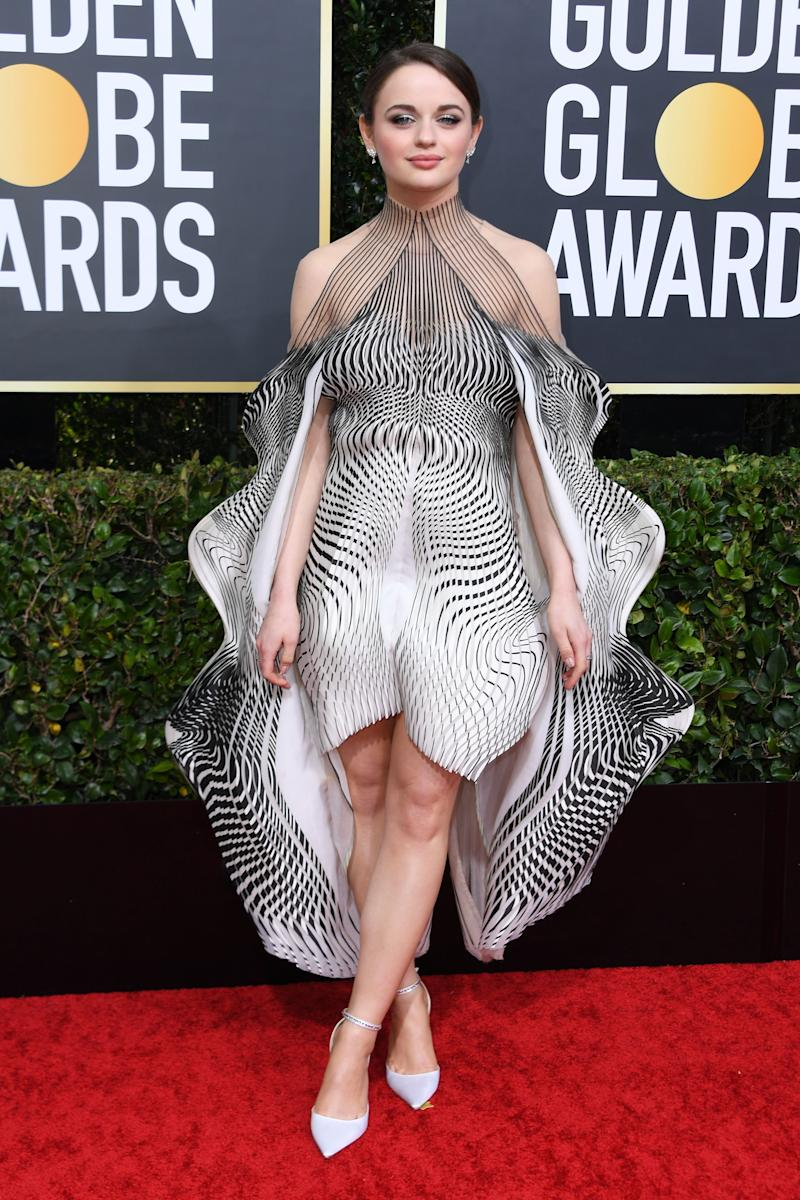 US actress Joey King arrives for the 77th annual Golden Globe Awards on January 5, 2020, at The Beverly Hilton hotel in Beverly Hills, California.