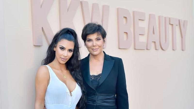 Kim Kardashian and Kris Jenner Stun in Black-and-White Looks at KKW Beauty Event