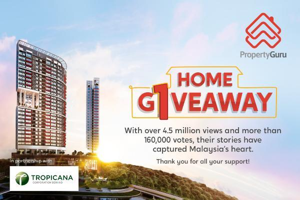 Over 160,000 Malaysians Have Rallied & Helped One Deserving Malaysian To Win A Free Home!