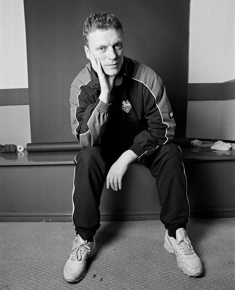Football manager David Moyes poses for a portrait shoot in Liverpool, 5th August 2001. (Photo by Donald Maclellan/Getty Images)