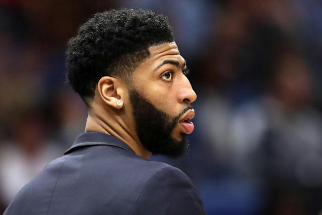 New Orleans Pelicans superstar Anthony Davis has reportedly requested a trade. (Getty Images)