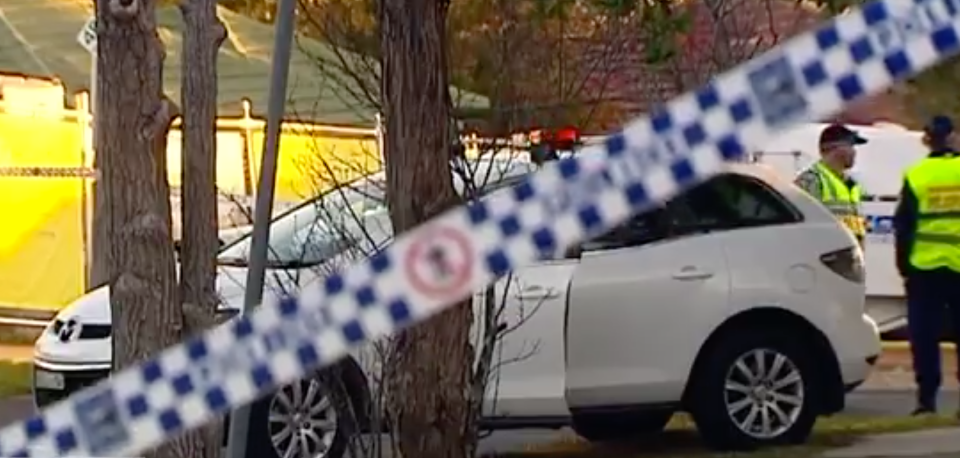 The pair were both struck by the Mazda as they checked the boot of the car. Source: 7 News
