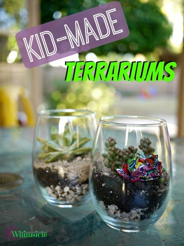 "<p>These DIY terrariums for kids are an easy gift to make and a low maintenance plant to care for. Purchase succulents from your local nursery, then let your toddler get their hands dirty while designing the container. </p><p><em><a href=""https://www.noguiltmom.com/kid-made-terrariums/?ref=pcrorganicgglunkwn&prid=pcseogglunkwn"" rel=""nofollow noopener"" target=""_blank"" data-ylk=""slk:Get the tutorial."" class=""link rapid-noclick-resp"">Get the tutorial.</a></em></p>"