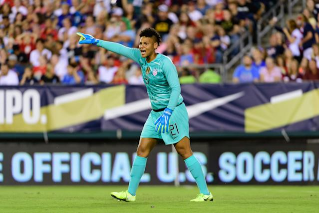 Utah Royals FC goalkeeper Adrianna Franch was the subject of racist taunts on Sept. 6. (Howard Smith/Getty Images).