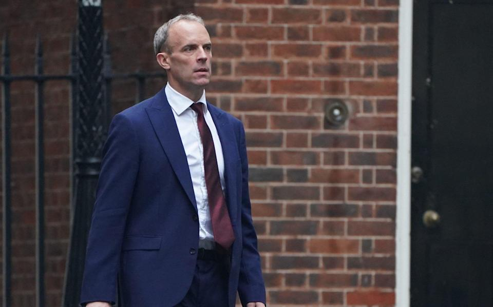 Dominic Raab's demotion was seen as the biggest story of the reshuffle, with the former foreign secretary being criticised over his handling of the Afghanistan crisis - Victoria Jones/PA Wire