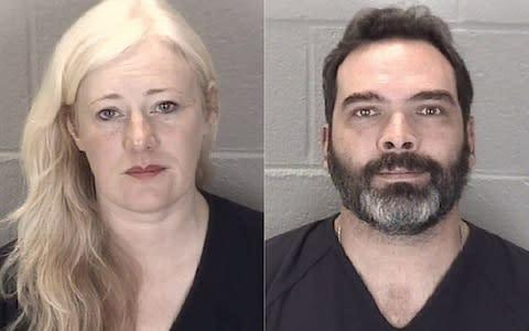 <span>Kristine and Michael Barnett surrendered to the authorities last week</span>