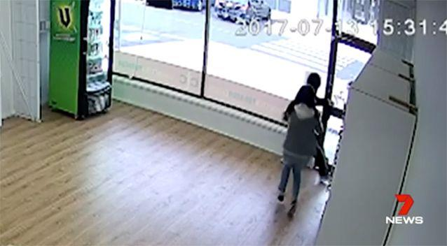PICTURED: Jenny chased the man out of the store. Photo: 7 News
