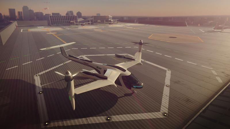 Pictured: An Uber Air electric air taxi. Source: Uber