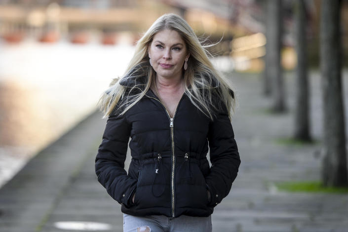 Gemma Sisson, 38 pictured at her home in Leeds. (SWNS)