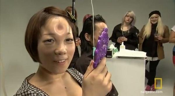 """A bagel head profiled in the National Geographic TV documentary, """"Taboo."""""""