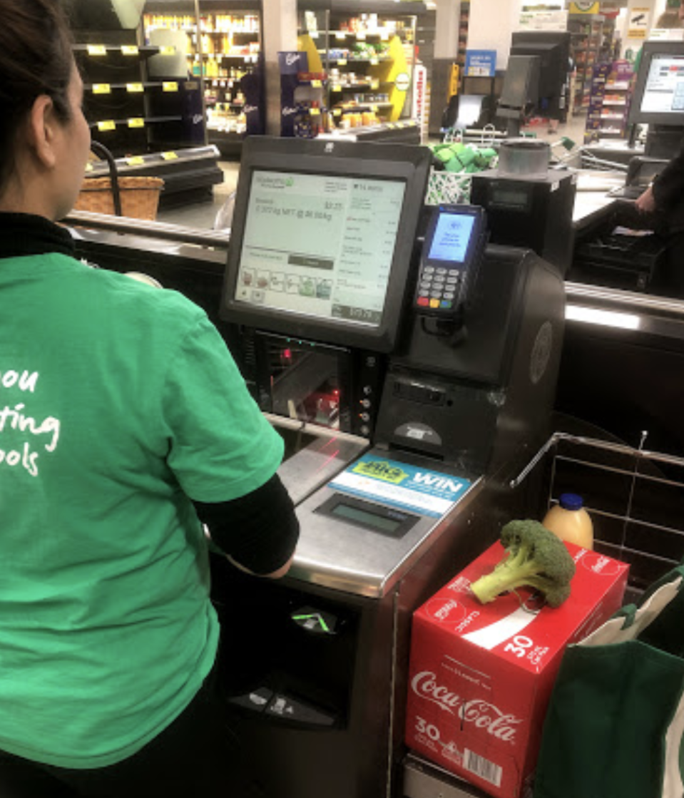 Back of Woolworths staff member at the Eastlands store.
