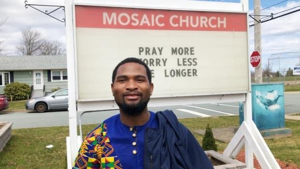 Jean Serge Mangapi said the Mosaic Church has been a life-changing experience for him. (Vernon Ramesar/CBC - image credit)