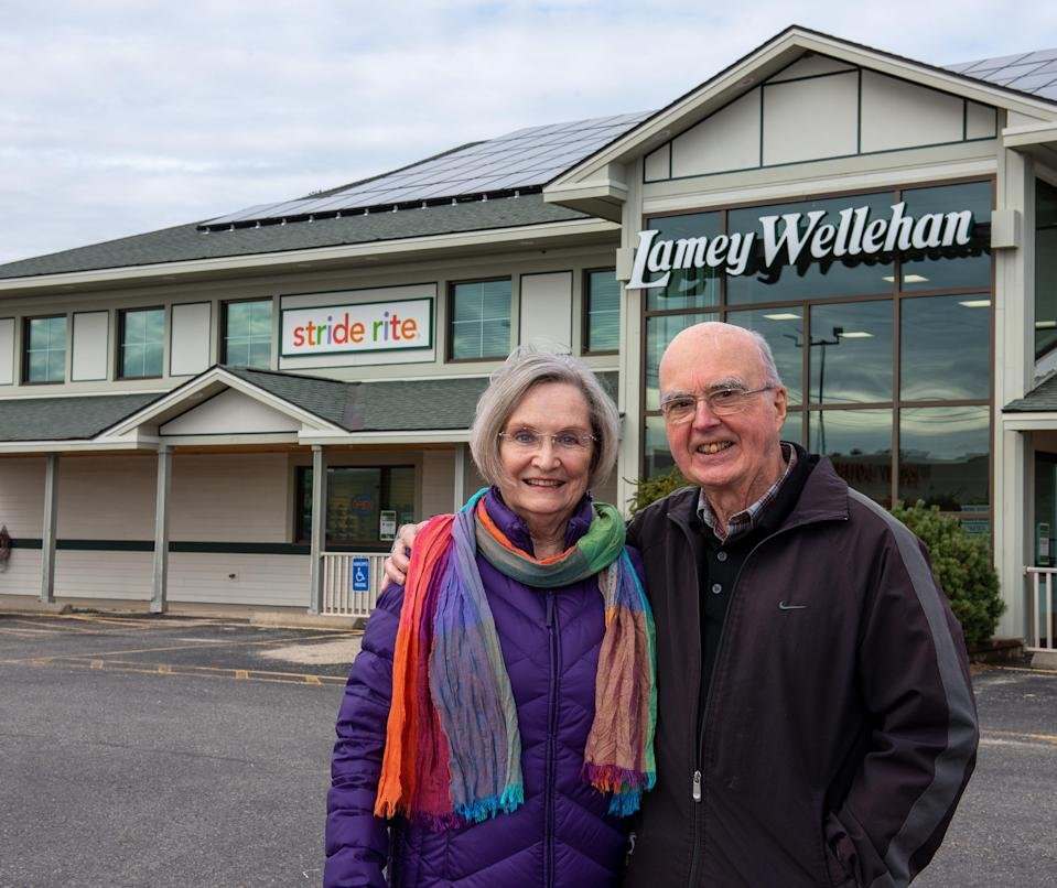 Kathy and Jim Wellehan, co-owners of Lamey Wellehan Shoes