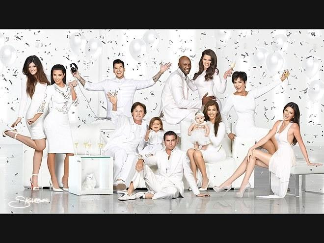 As everyone who has caught a glimpse of Keeping Up With the Kardashians or paged through an Us Weekly in the past decade knows, this family is not without some serious drama. The party-themed, all smiles 2012 card is just a little too happy.