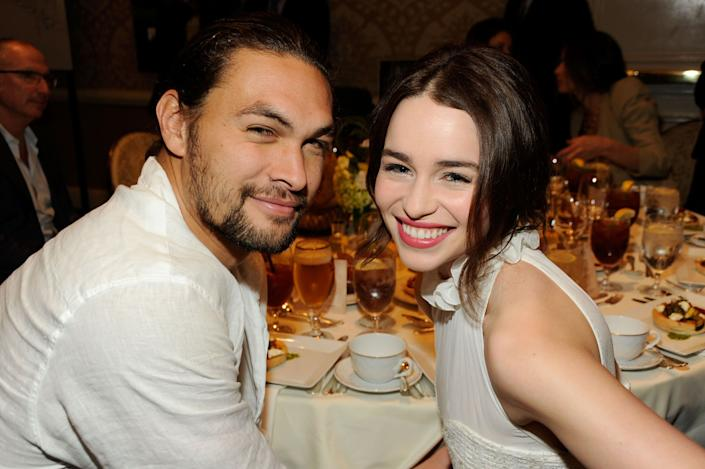 Jason Momoa and Emilia Clarke attend the 12th Annual AFI Awards in 2012. (Photo: Frazer Harrison via Getty Images)