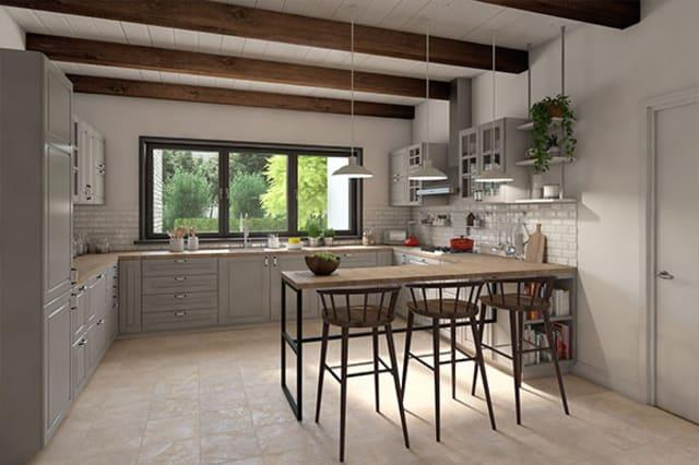 The stylish kitchen