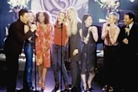 """<p><strong>Ally McBeal</strong> is a '90s classic that follows Ally (<a class=""""link rapid-noclick-resp"""" href=""""https://www.popsugar.com/Calista-Flockhart"""" rel=""""nofollow noopener"""" target=""""_blank"""" data-ylk=""""slk:Calista Flockhart"""">Calista Flockhart</a>) as she falls in and out of love while working at a law firm where all of her coworkers are equally bad at making good relationship decisions. Yes, things get a bit weird on this show (dancing babies and strange hallucinations), but it's a lighthearted, hilarious show that you can count on for drama, hijinks, and a dollop of romance. </p> <p><a href=""""https://www.hulu.com/series/be5f7f99-ad45-40af-986b-550654fb6f52"""" class=""""link rapid-noclick-resp"""" rel=""""nofollow noopener"""" target=""""_blank"""" data-ylk=""""slk:Watch Ally McBeal on Hulu."""">Watch <strong>Ally McBeal</strong> on Hulu.</a></p>"""