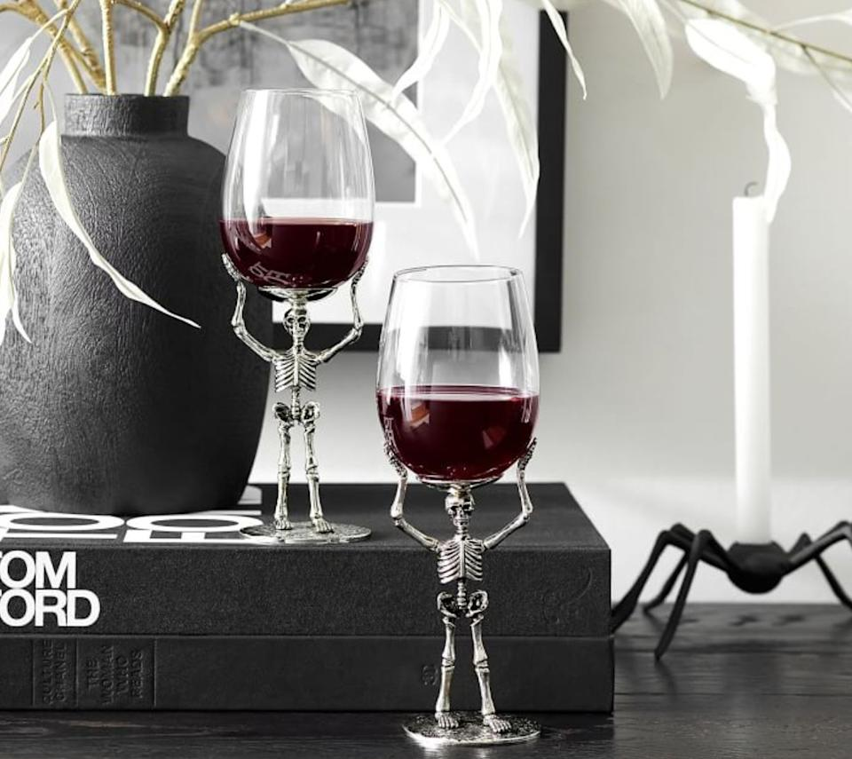 "Just pour in red wine for a real bloody look. <a href=""https://fave.co/3k6sxSv"" target=""_blank"" rel=""noopener noreferrer"">Find it for $30 at Pottery Barn</a>."