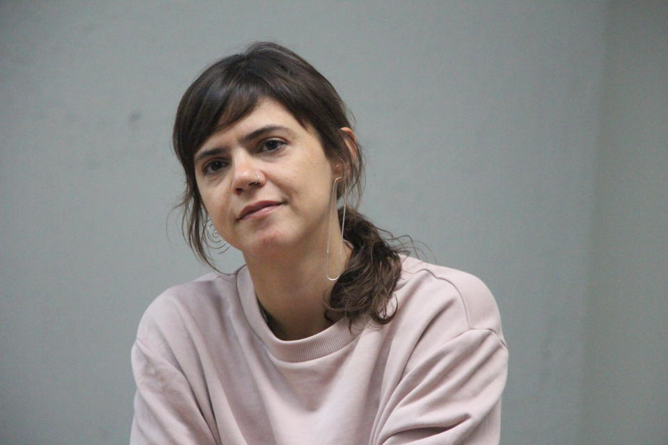 """This Sept. 16, 2017 photo shows a portrait of Valeria Luiselli, author of """"Desierto sonoro,"""" winner of the Dublin Literary Award. (Angel Soto via AP)"""