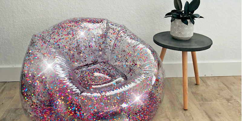 Wondrous Omfg Target Is Selling Inflatable Glitter Chairs So You Can Unemploymentrelief Wooden Chair Designs For Living Room Unemploymentrelieforg
