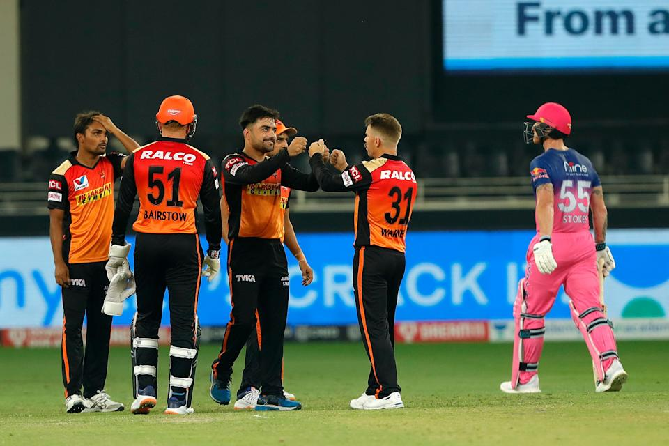 Rashid Khan removed Ben Stokes for a 32-ball 30.