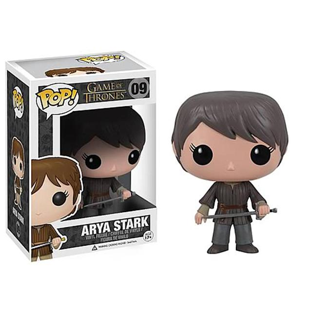<p>Arya has had a number of looks throughout the series, but only a single Pop. However, there are multiple versions of the character in other Funko lines. </p>