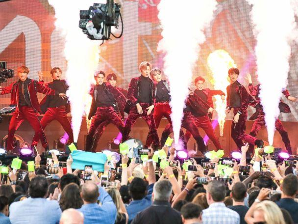 PHOTO: Boy band NCT 127 are seen performing at 'Jimmy Kimmel Live' on Oct, 08, 2018, in Los Angeles. (BG017/Bauer-Griffin/GC Images via Getty Images)