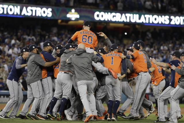 The Astros are World Series champions. (AP)
