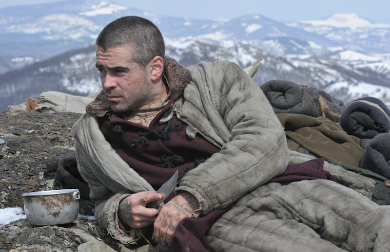 "In this film publicity image released by Newmarket Films, Colin Farrell is shown in a scene from, ""The Way Back."" (AP Photo/Newmarket Films)"