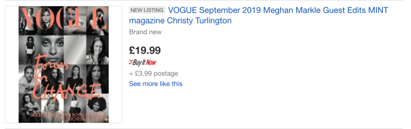 One listing is selling the magazine for five times the price. [Photo: eBay]