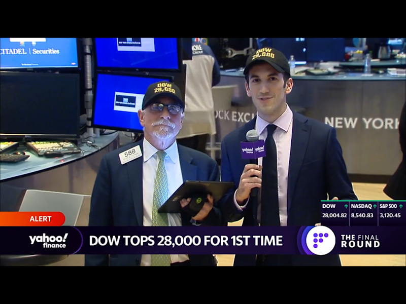 Get out your Dow 28,000 hats!