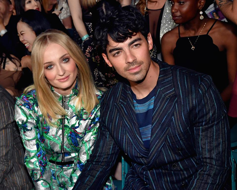 LAS VEGAS, NV – MAY 01: (L-R) Sophie Turner and Joe Jonas attend the 2019 Billboard Music Awards at MGM Grand Garden Arena on May 1, 2019 in Las Vegas, Nevada. (Photo by Jeff Kravitz/FilmMagic for dcp)