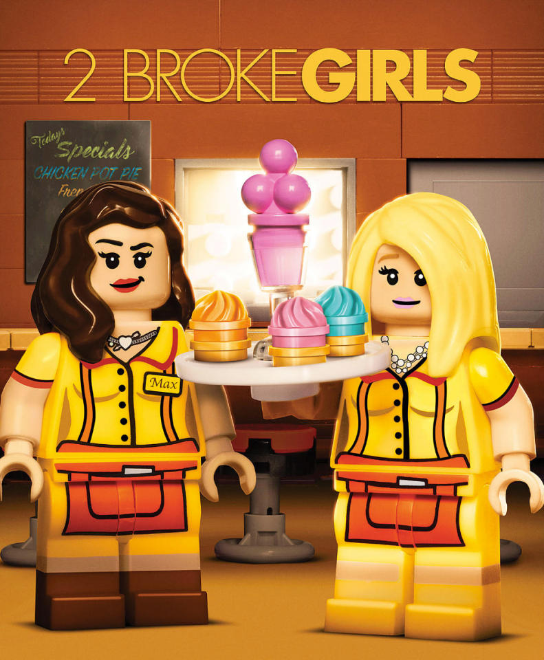 <p>One thing you could never accuse <i>2 Broke Girls</i> of: having understated cleavage — until now. They'd better take down this billboard fast! These women have a reputation to uphold! (Credit: Warner Bros.) </p>