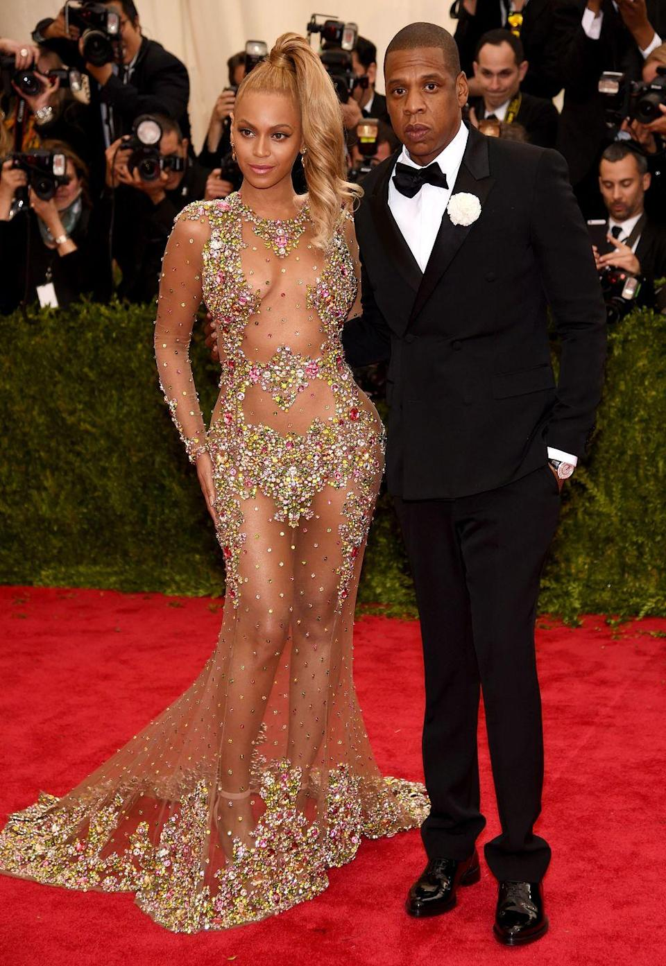 """<p>I mean, I'll tell you what happened, but you could just listen to <em>Lemonade</em>. Beyoncé and Jay-Z reconciled after Bey discovered Jay had been cheating on her, according to <a href=""""https://www.washingtonpost.com/news/arts-and-entertainment/wp/2018/04/06/jay-z-opens-up-to-david-letterman-about-cheating-on-beyonce-and-his-mothers-sexuality/?noredirect=on&utm_term=.77ea62ee1e55"""" rel=""""nofollow noopener"""" target=""""_blank"""" data-ylk=""""slk:The"""" class=""""link rapid-noclick-resp""""><em>The</em> </a><em><a href=""""https://www.washingtonpost.com/news/arts-and-entertainment/wp/2018/04/06/jay-z-opens-up-to-david-letterman-about-cheating-on-beyonce-and-his-mothers-sexuality/?noredirect=on&utm_term=.77ea62ee1e55"""" rel=""""nofollow noopener"""" target=""""_blank"""" data-ylk=""""slk:Washington Post"""" class=""""link rapid-noclick-resp"""">Washington Post</a></em>. She dropped an album about it, and then he dropped one as an apology, and then they dropped one together singing about how they're """"happily in love."""" </p><p>Though, since Jay """"f*cked up the first stone,"""" the couple renewed their vows.</p>"""