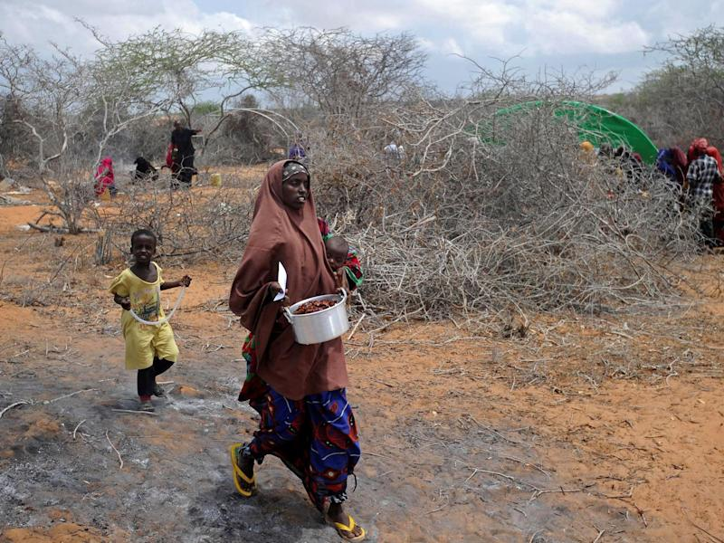 Somalia, a Horn of Africa country of 12 million people, is facing its third famine in 25 years of civil war and anarchy (Getty)