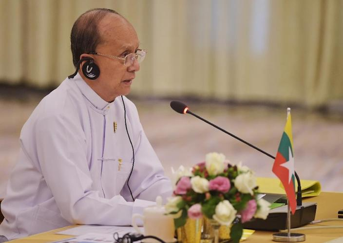 """Myanmar's President Thein Sein says """"the road is open for political dialogue"""" (AFP Photo/Mandel Ngan)"""