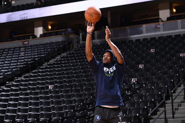 After six weeks on the shelf, Jimmy Butler will reportedly return to the court for the Minnesota Timberwolves on Friday night. (Getty)