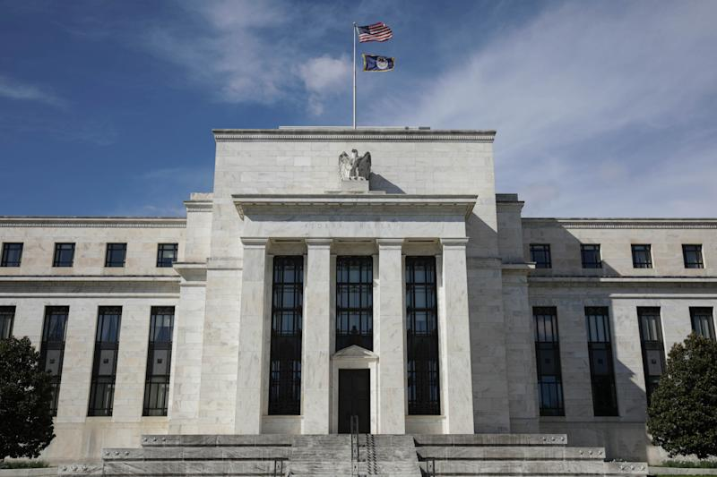 WASHINGTON, D.C., USA - APRIL 05: A view of the United States Federal Reserve Building in Washington D.C., United States on April 5, 2020. (Photo by Yasin Ozturk/Anadolu Agency via Getty Images)