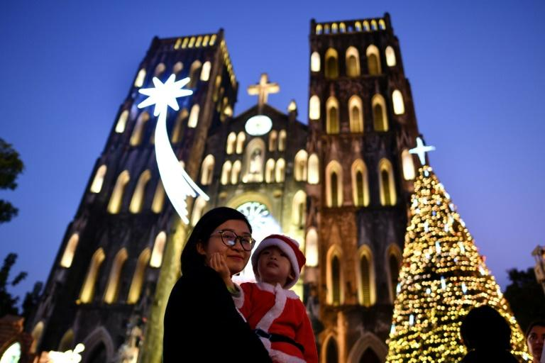 Celebrations at St. Joseph's cathedral in the Vietnamese city of Hanoi on Christmas Eve