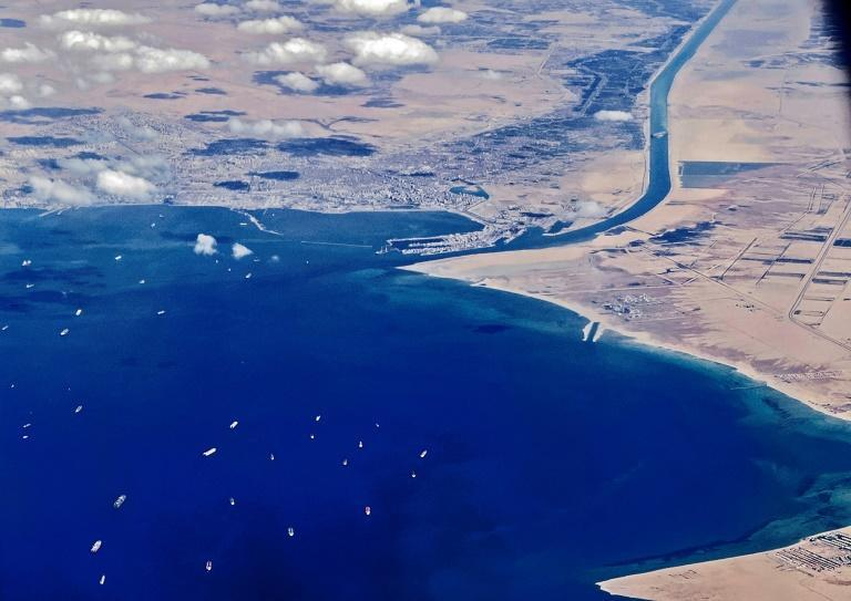 The Ever Given crisis caused a tailback of hundreds of ships at each end of the Suez canal